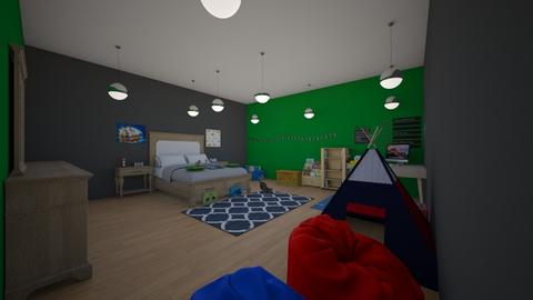 Harleys Bedroom - Kids room - by Little Miss Designer 198