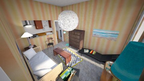 Beachy Minimal Studio - Minimal - Living room - by KajsaRain