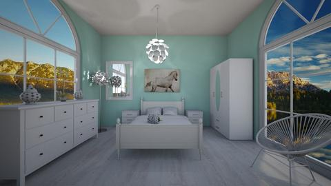 White and blue - Glamour - Bedroom - by Twerka