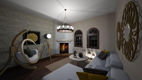 LIVING  ROOM - Living room - by Rahaf123bawadri