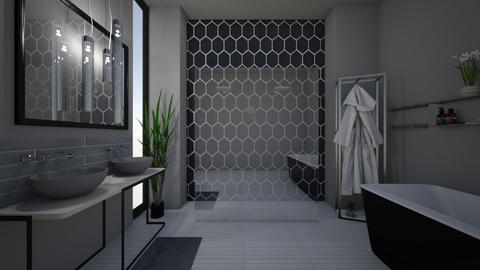 dark bathroom - Bathroom - by stephanie delios