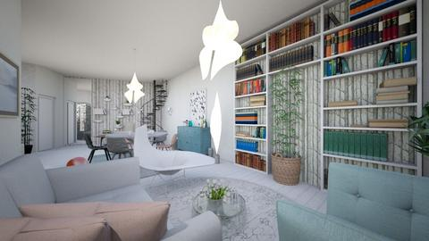 Plan parter complet 2_02 - Living room - by decorina