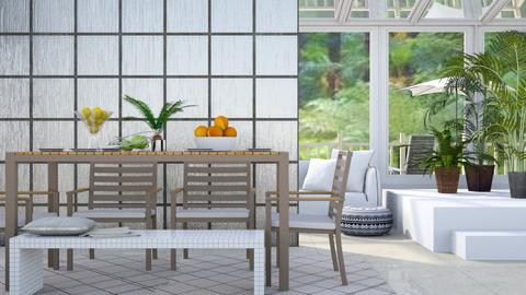 Conservatory Dining - Modern - Dining room - by millerfam