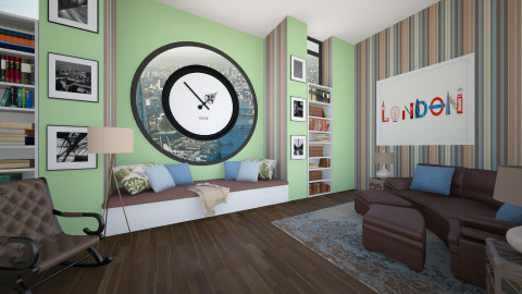 Clock Tower Penthouse - Living room - by Brigid123