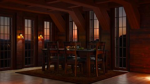 Dark Wood Dining - Dining room - by Twilight Tiger
