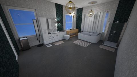 Dark Room - Rustic - Bathroom - by piyatida