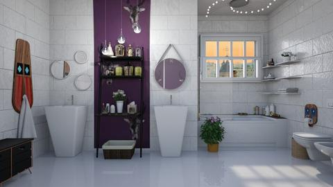 Bohemian bathroom - Modern - Bathroom - by augustmoon
