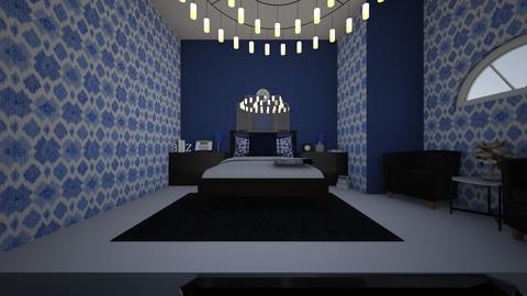 blue bed room part1 - Classic - Bedroom - by Braalexdun13