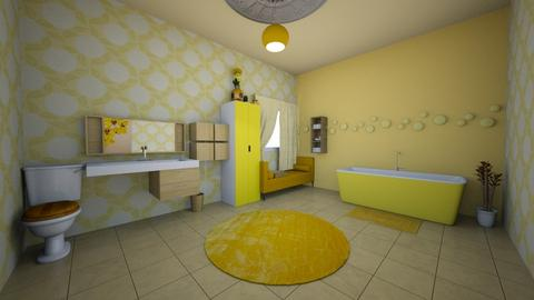 Yellow Cascade - Bathroom - by LilyJSmall101
