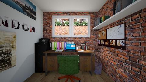 Garden Level Apt Study - Bedroom - by SammyJPili