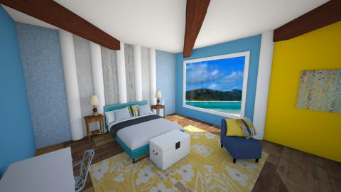 Beach Front View - Modern - Bedroom - by zellowiz