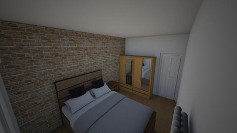 sypialnia - Minimal - Bedroom - by gabihr