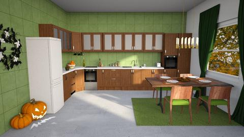 Green autumn kitchen - Kitchen - by Louise Hedlund