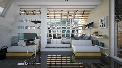 Loft Room - Modern - Bedroom - by thefairysknight