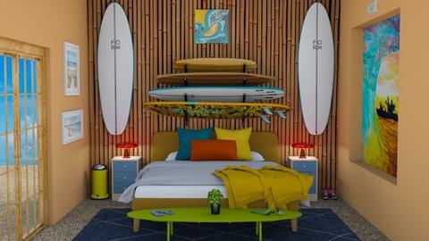 Surf Culture Bedroom - Retro - Bedroom - by laurenpoisner