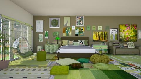 Greeeeeen - Bedroom - by Raven Storme