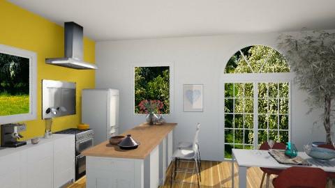 Orange Kitchen - Kitchen - by Planandi