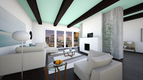White N Wood - Living room - by lotsofglory