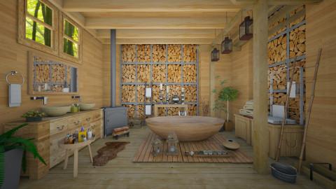 Nature_boho - Bathroom - by Ida Dzanovic