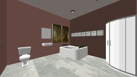rustic master bathroom - Rustic - Bathroom - by shadowscythe