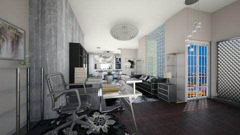 modern room black - by eleonoraxruc