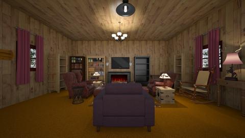 Forest Retreat - Living room - by WestVirginiaRebel