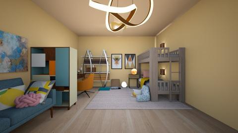 Colorful Bedroom - Bedroom - by CatsFurLife