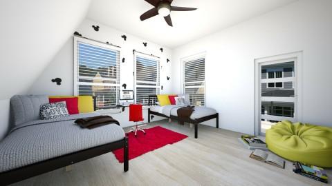 mickey mouse minimal room - Minimal - Bedroom - by Zoe_ty