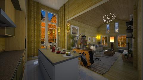 Pequena  Casa - Living room - by Maria Helena_215