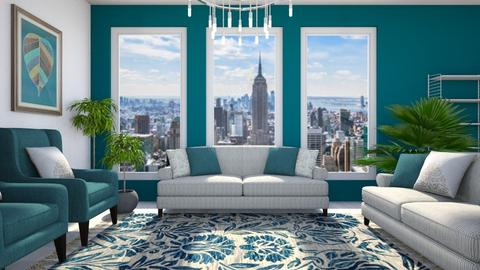 Teal Cityview - Living room - by millerfam