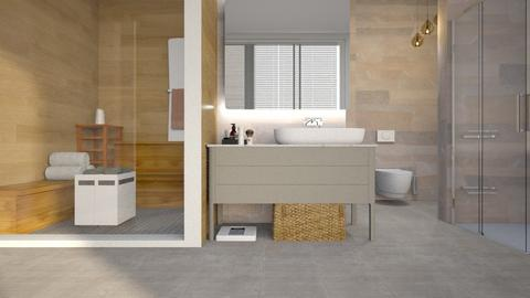 Bathroom_with_small_Sauna - Bathroom - by ZuzanaDesign