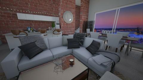 city nights - Living room - by designerm
