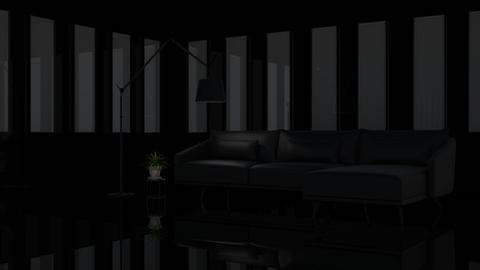 Black Leather - Retro - Living room - by millerfam