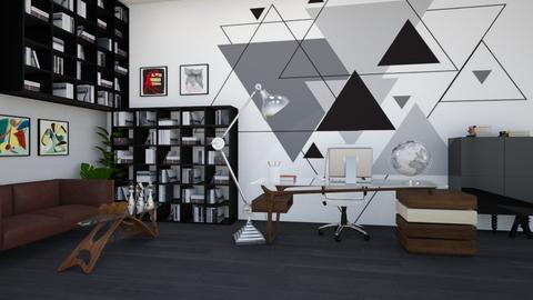 Geometric office - by Aymee Estrella