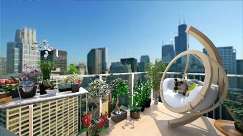 Balcony View - Garden - by keteya weatherall