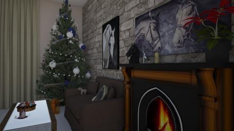 Xmas for equestrian - Country - Living room - by aurorapurple