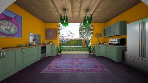 bohemian bon apetite - Kitchen - by Nikki Lipstick