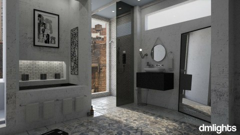 Dust - Masculine - Bathroom - by DMLights-user-1303496