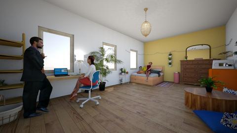 Benno14  - Rustic - Bedroom - by farinapina