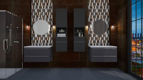 Industrial Bathroom - Bathroom - by rickglassinteriors
