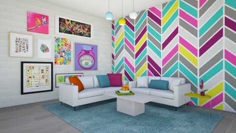 Colorful Living - Modern - by Vampire_Kitty