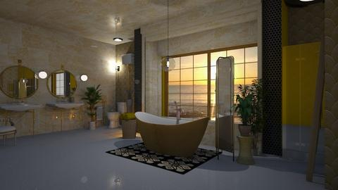 Yellow Bathroom - Bathroom - by Sue Bonstra