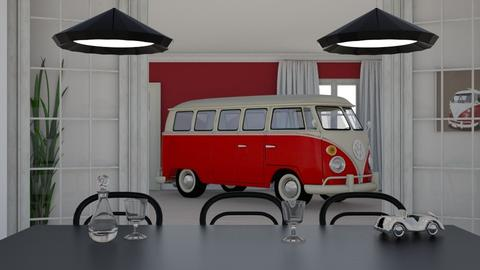 a car in the house - Vintage - Living room - by HenkRetro1960