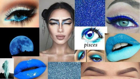 BLUE CREATIVE MAKEUP  - by Ariana170