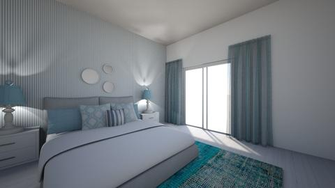 blue beach house - Bedroom - by Magdalenaska