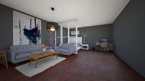 studio apartment - Vintage - Living room - by cheeeeeeee