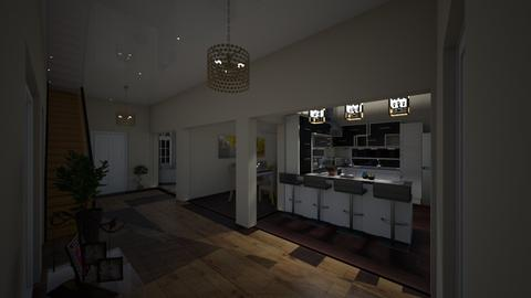 finaldesign hallwayview1 - Modern - Kitchen - by Stephanie Felix