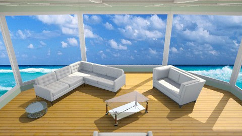 Beach Room - Living room - by Jacquie Ru