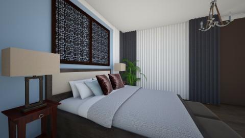 Masterbedroom Light Blue2 - Minimal - Bedroom - by Ejad Shukri