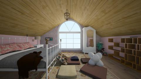 pink - Rustic - Bedroom - by LAS95